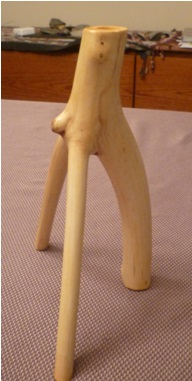 Chandelier tripode en érable ou hêtre (Décoration)